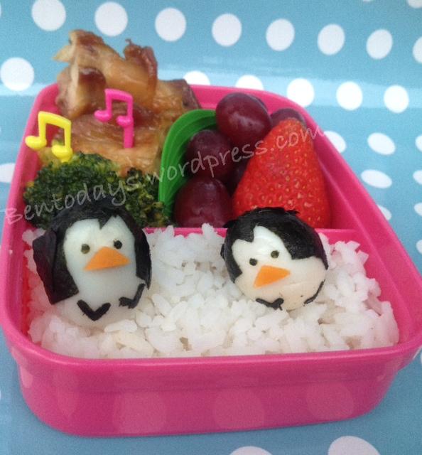 Quail egg penguins on (r)ice