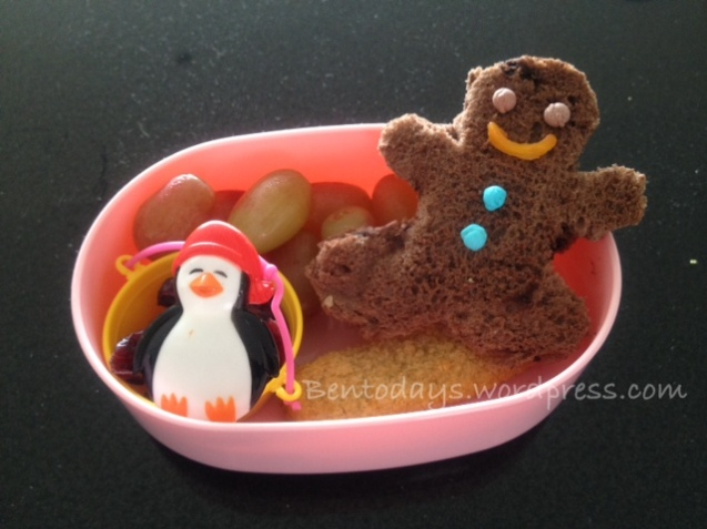 Gingerbread man bento