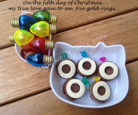 On the fifth day of Christmas, my true love gave to me, five gold rings...