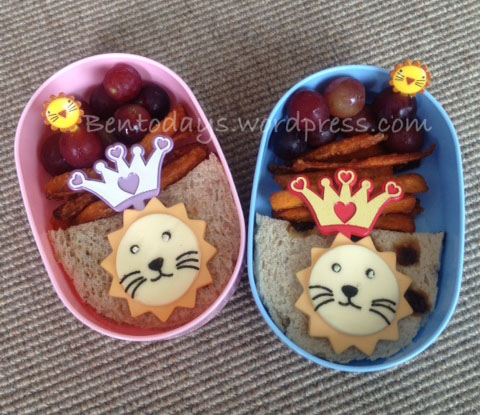 I'm King of the Jungle! - Lunch bento of a lion face sandwich