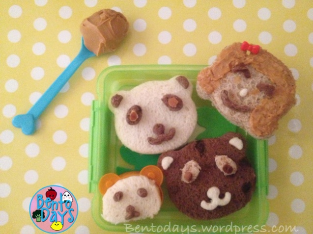 Goldilocks and the Three Bears for National Peanut Butter Day on January 24. Done using CuteZCute cutters.