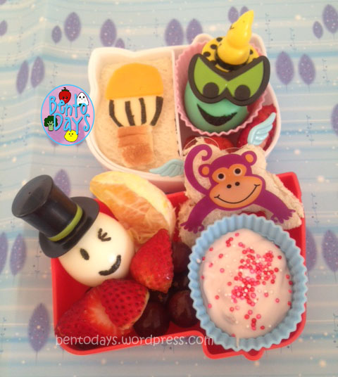 cute lunch bento for kids, based on the movie Oz - The Great and Powerful. (The Wizard of Oz remake done by DIsney)