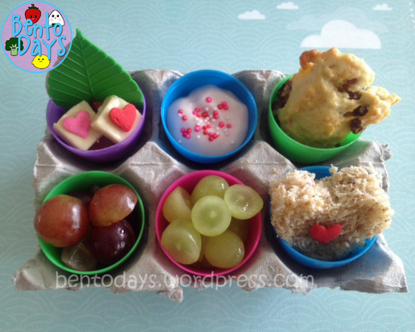 Fast, simple and easy lunch bento for Easter. Takes less than 15 minutes to make a cute lunch bento for kids