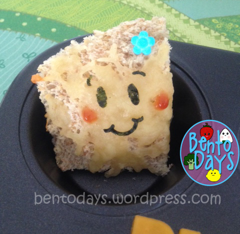 Cute decoration for grilled cheese toast bento
