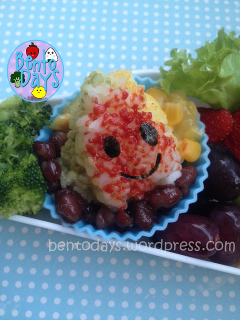 ice kachang bento, shaved ice dessert, cute bento lunch ideas for kids