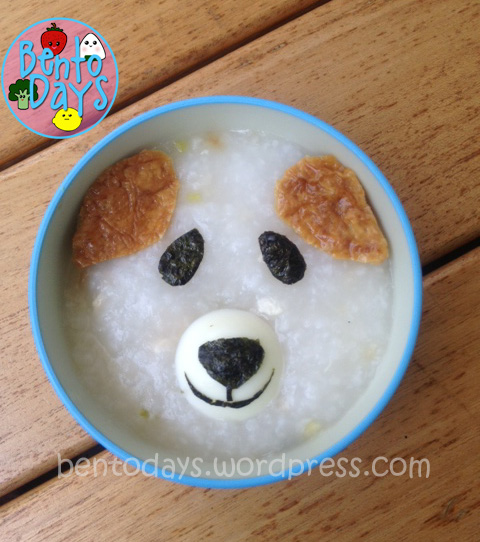 Pupppy porridge congee decoration, 3 ways to decorate porridge, cute fast lunch idea for kids