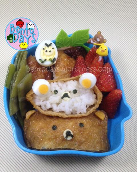 Rilakkuma inari sushi, inari zushi, Korilakkuma inari sushi,kiiroitori, cute lunch idea for kids