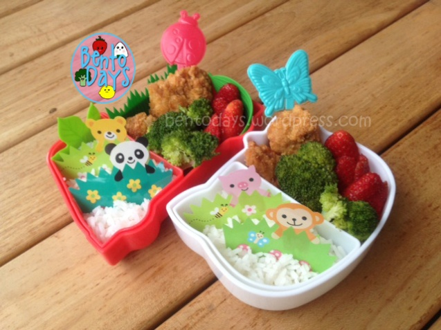 Easy bento, fast and quick lunch for children, quick fast bento lunch, easy bento ideas for children