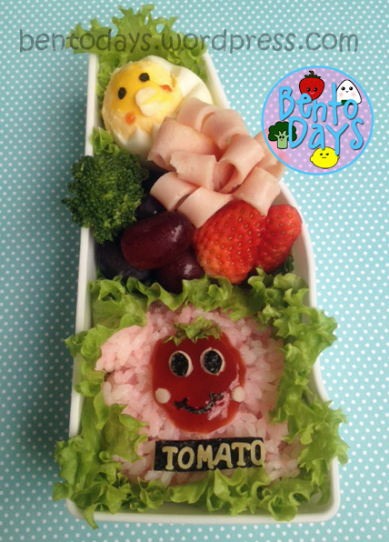tomato bento, cute lunch for kids