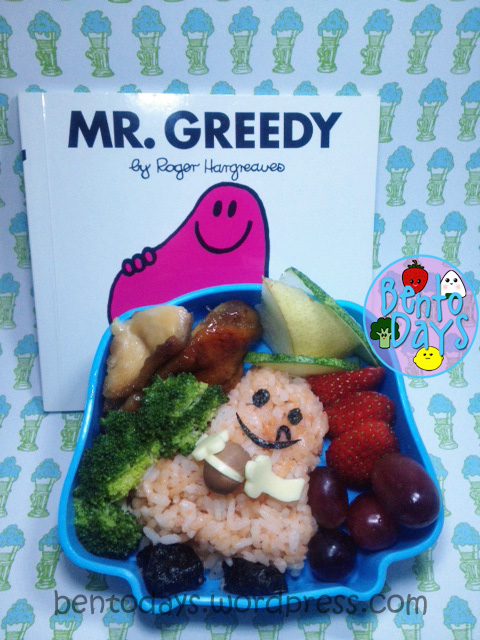 Mr Greedy bento (Mr Men series)