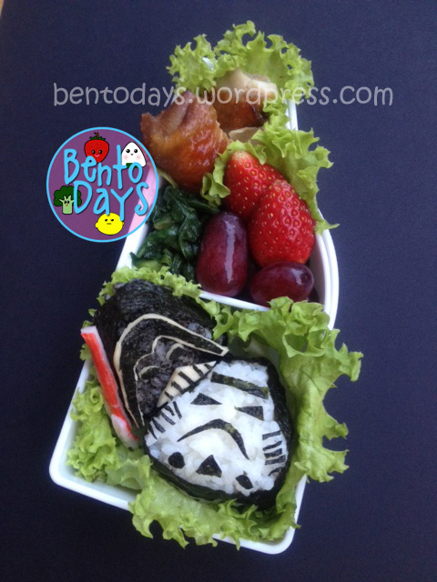 Star Wars onigiri bento. Darth Vader and Storm Trooper