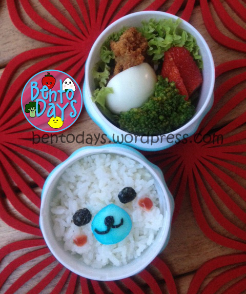 Mamegoma lunch onigiri bento for baby