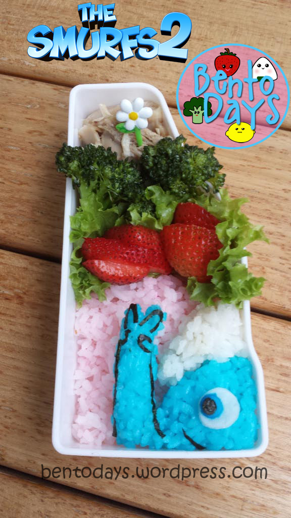 Smurfs 2 movie bento