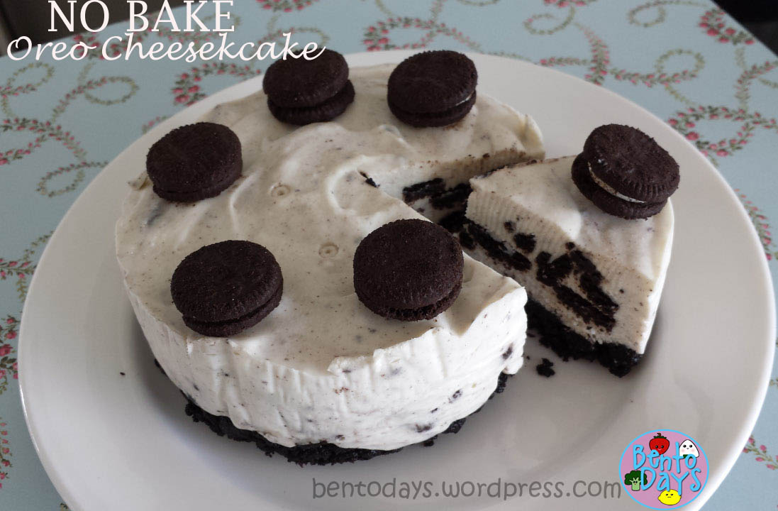 NoBake Oreo Cheesecake and Birthday Bento Bento Days