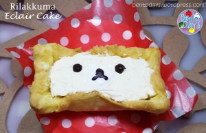 Rilakkuma eclair cake dessert recipe