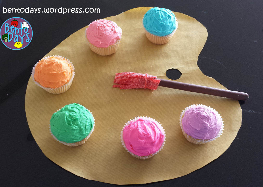 artist s palette cupcakes bento days. Black Bedroom Furniture Sets. Home Design Ideas