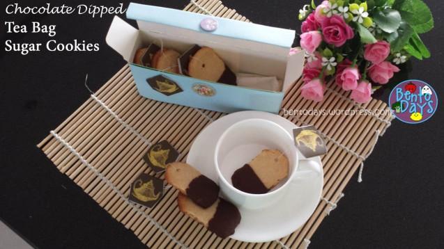 Chocolate Dipped Tea Bag Cookies | Bento Days