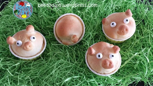 Cute Piggy Bread for kids | Bento Days