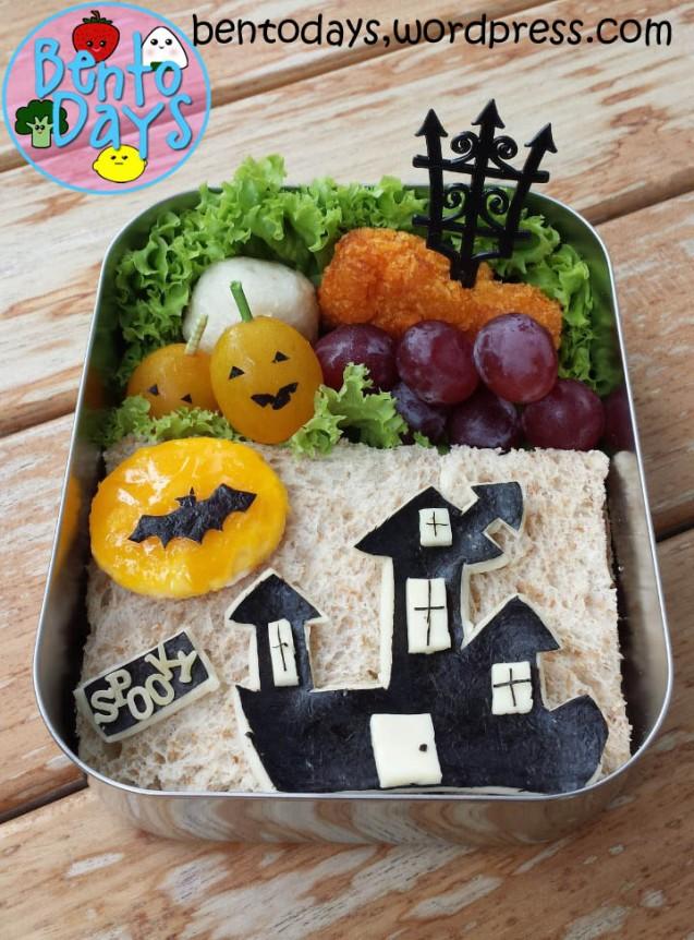 Halloween Bento: Haunted House | Bento Days