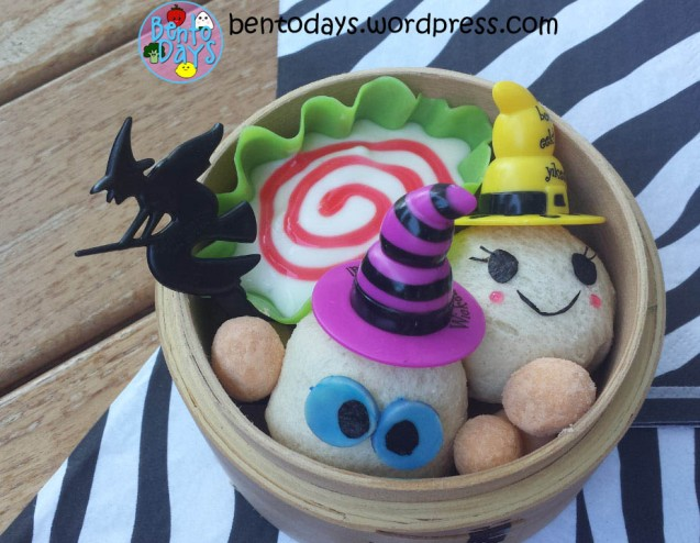 Halloween Bento - ghost bread balls | Bento Days