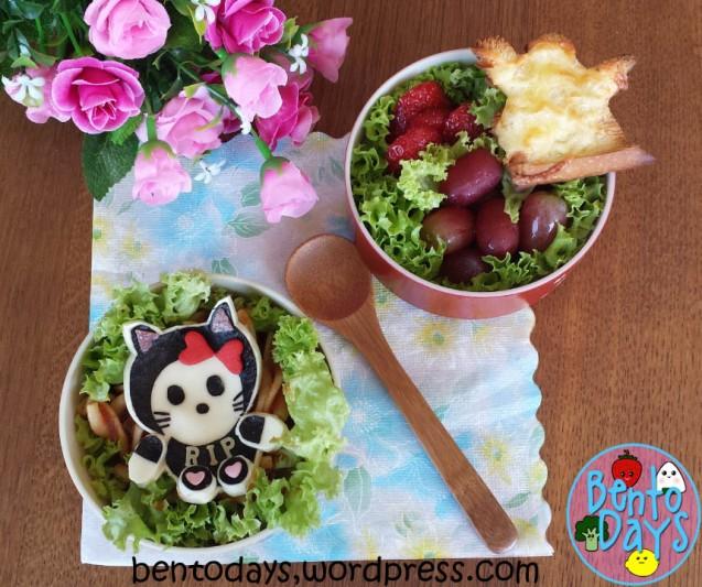 Halloween Bento: Black Hello Kitty | Bento Days