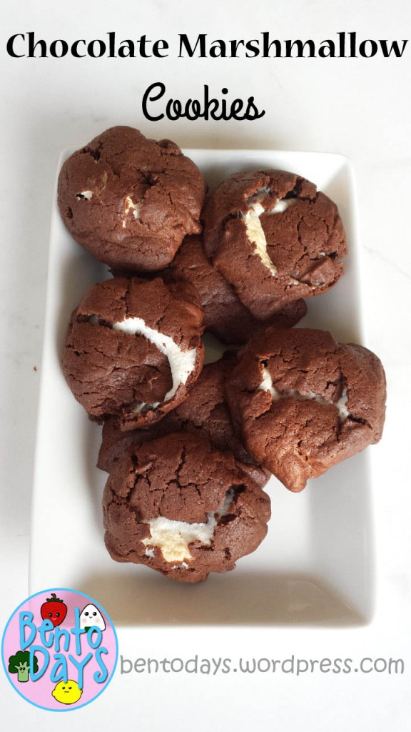 Chocolate Marshmallow Cookies Recipe | Bento Days