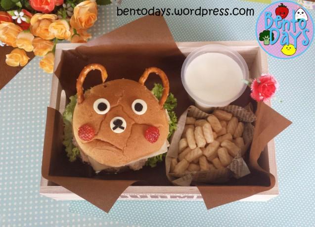 Bear Burger Bento | Bento Days