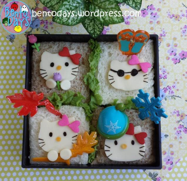 Four Seasons Hello Kitty Bento | Bento Days