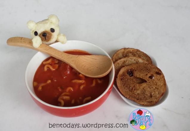 Bear stirring soup bento | Bento Days