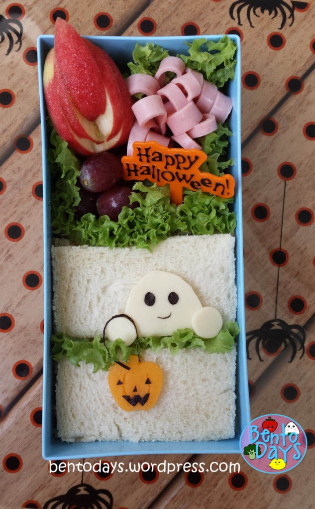 Halloween Bento: Ghost and Jack-o-lantern | Bento Days