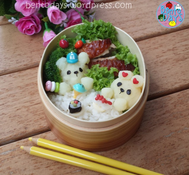 Restaurant bento with miniature food | Bento Days
