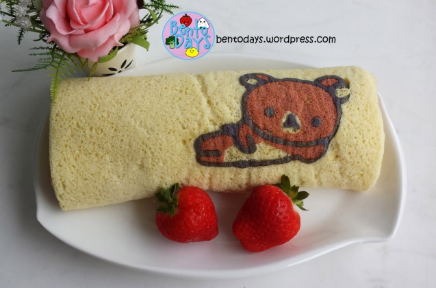 How to make Rilakkuma deco swiss roll | Bento Days