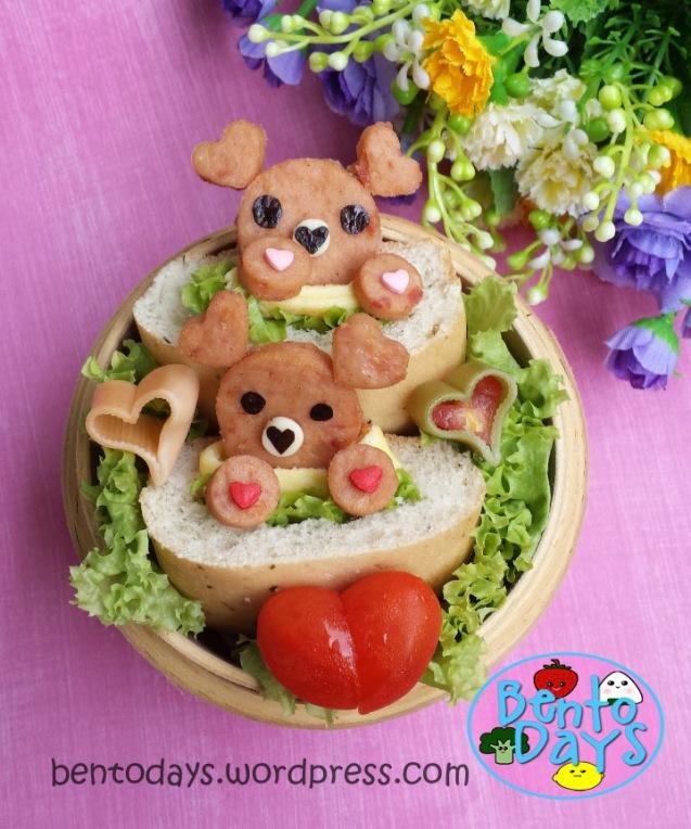 Sweetheart Bears Bento   Bento Days