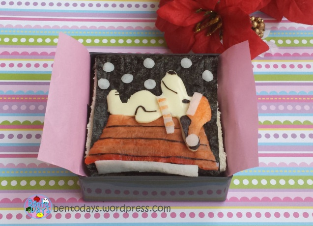 Christmas bento: Snoopy on a winter night | Bento Days