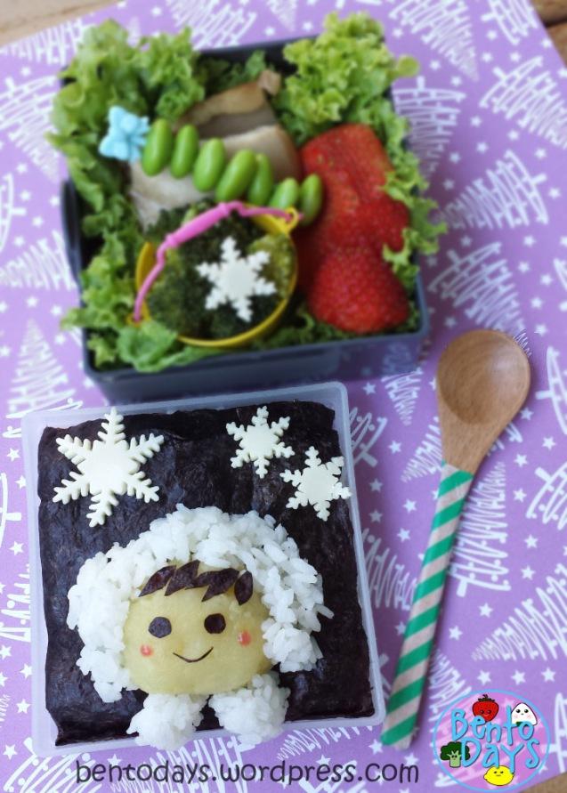Christmas bento: Snowy winter night | Bento Days