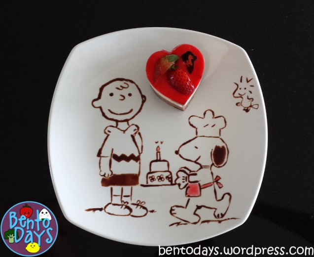Food Art: Chocolate drawing of Snoopy | Bento Days