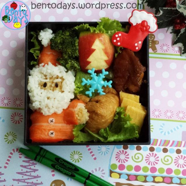 Christmas bento: Santa and sack of toys | Bento Days