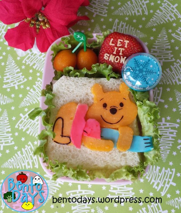 Winnie the pooh winter bento | Bento Days