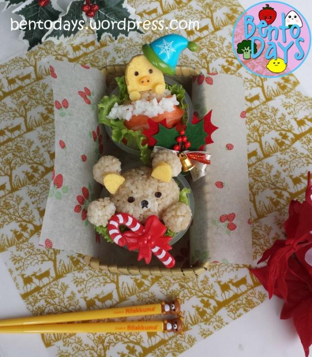 Rilakkuma Christmas bento | Bento Days