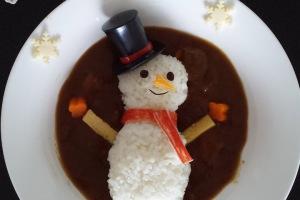 Christmas bento: Snowman bento| Bento Days