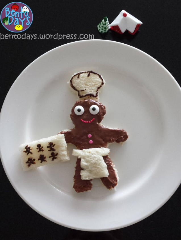 Food Art: Gingerbread man baking gingerbread cookies | Bento Days