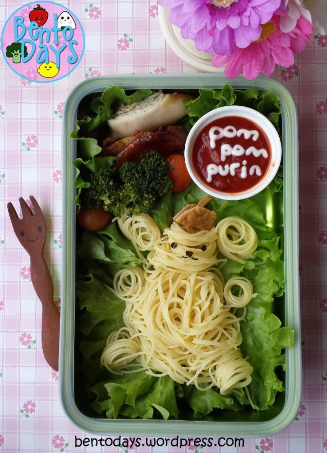 Pom Pom Purin bento, noodle bento, pasta bento | Bento Days