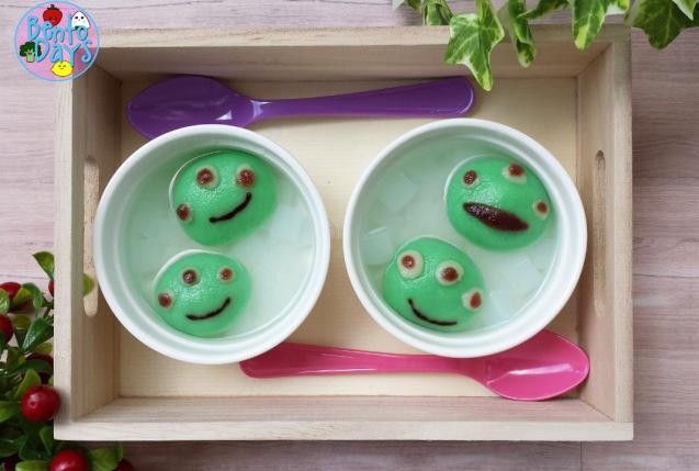 Little Green Men shiratama dumplings (tang yuan) | Bento Days