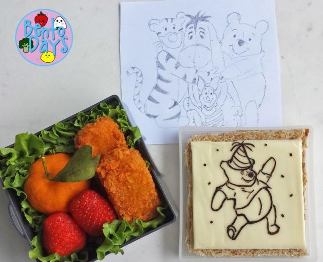 Food Art: Winnie the Pooh bento | Bento Days
