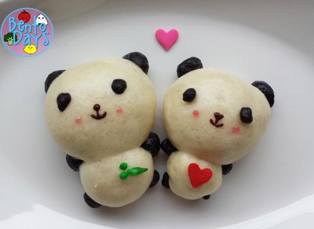 Valentines Panda bread | Bento Days