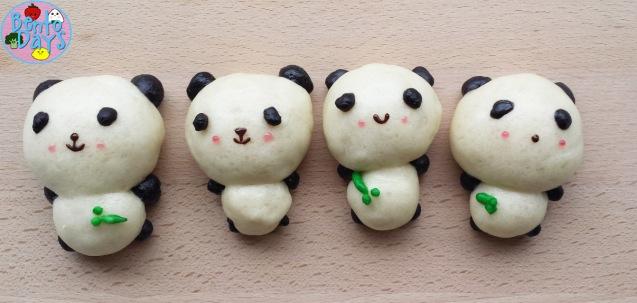 Panda mantou, panda steamed bread | Bento Days