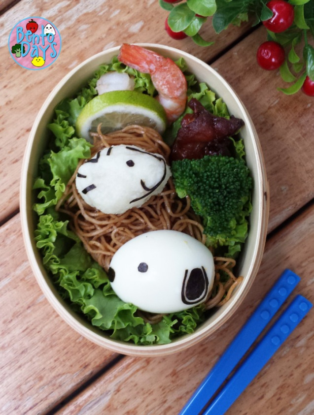 Snoopy and Woodstock bento | Bento Days