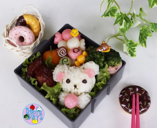 Rilakkuma Candy Train bento | Bento Days