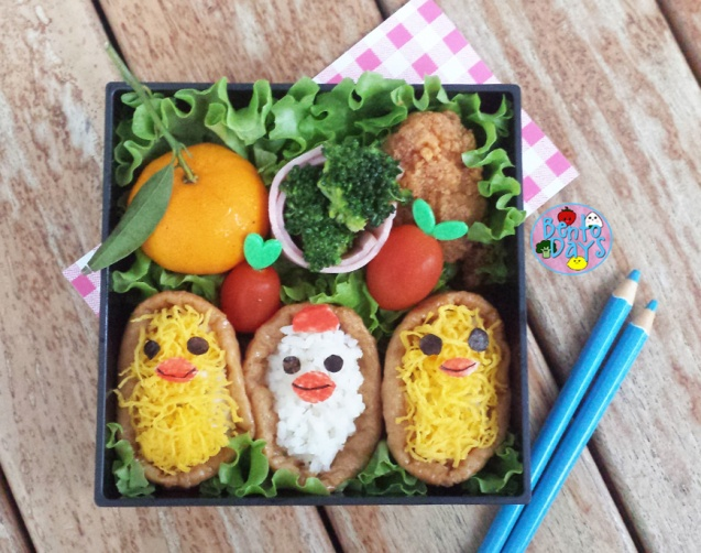 Hen and Chicks Inari sushi | Bento Days