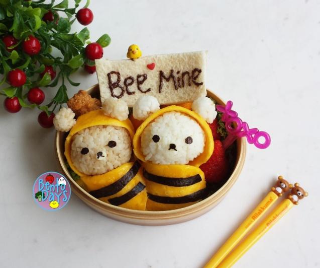 Rilakkuma Bee Valentines bento | Bento Days